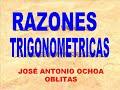 APRENDIENDO LAS RAZONES TRIGONOMETRICAS