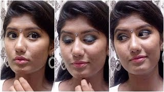 Navratri Makeup | Grey Smokey Eye