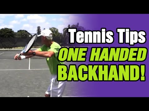 3 One Handed Backhand Tennis Tips with Tom Avery