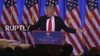 download LIVE: Trump holds first formal press conference since election victory Video