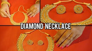 Beautiful Diamond Necklace- Party Wear Paper Necklace