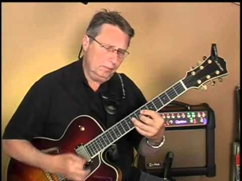 OUT OF NOWHERE Jazz Guitar Chord Melody Lesson Demo