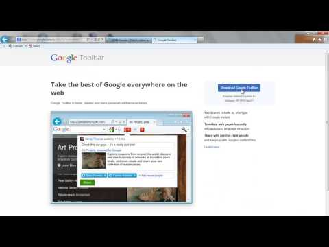 How to Install Google Toolbar