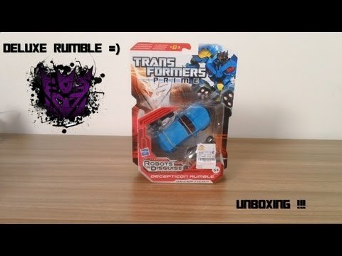 Unboxing Transformers Prime deluxe Rumble  (PT-BR)