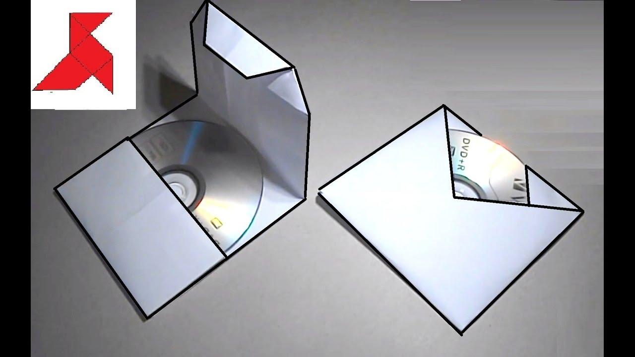 Как сделать конвертики из бумаги для дисков 650
