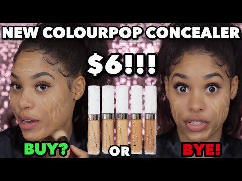 TRYING NEW COLOURPOP CONCEALERS!!!   FIRST IMPRESSIONS & REVIEW