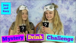 Mystery Drink Challenge with a Twist ~ Jacy and Kacy