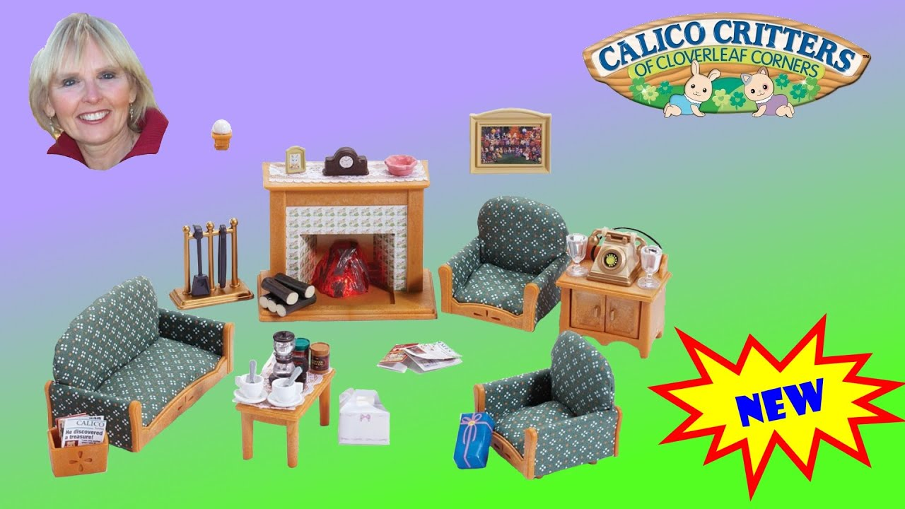 calico critters deluxe living room set youtube