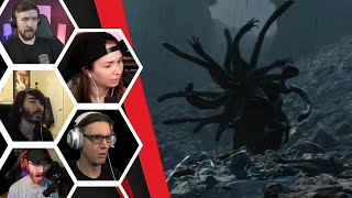Let's Players Reaction To The First Time Encountering A Catcher | Death Stranding