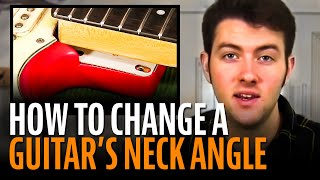 Change the angle of a neck with StewMac Neck Shims
