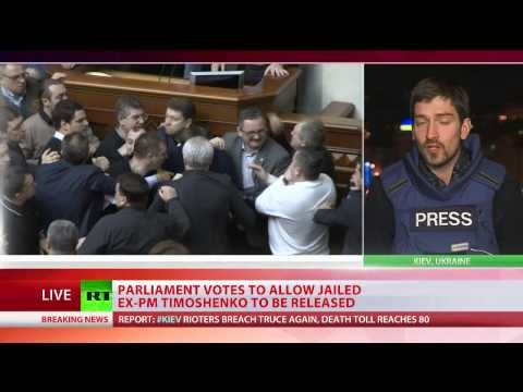 Ukraine MPs vote for release of ex-PM Tymoshenko, return to 2004 constitution