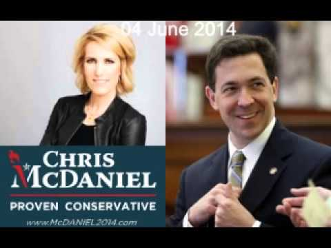 Chris McDaniel on Laura Ingraham 04 Jun 14