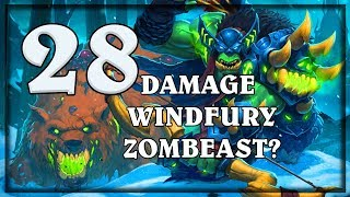 28 Damage Zombeast with Windfury? ~ Knights of the Frozen Throne Expansion (Hearthstone)