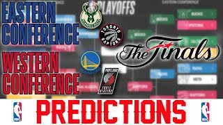 NBA Conference Finals Predictions 2019 - Warriors vs Blazers Prediction Bucks vs Raptors Prediction