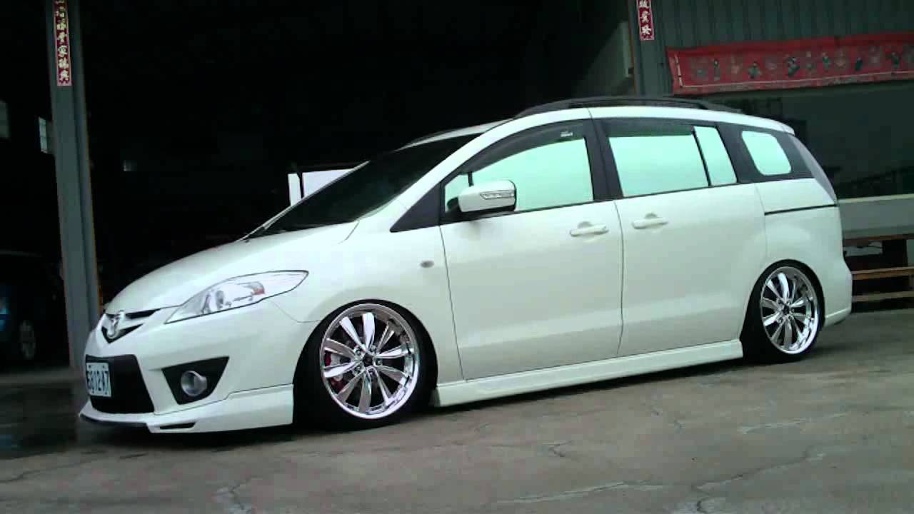 Mazda 5 With Airrex Digital Air Suspension System Youtube