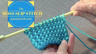 Moss Slip Stitch | Knitting Stitches