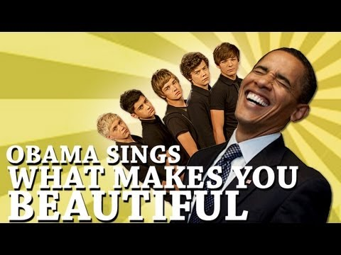 Barack Obama Singing What Makes You Beautiful by One Direction