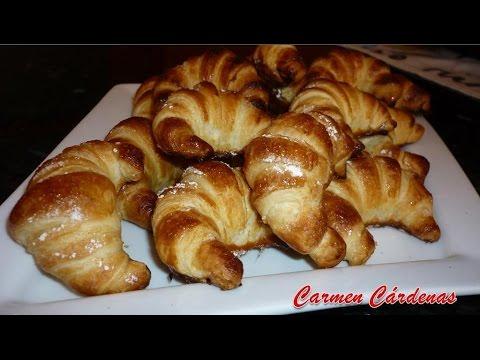 Croissant de hojaldre, Mini cruasán, receta paso a paso de Carmen Cárdenas.