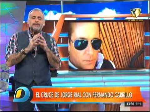 Rial siguió su pelea con Fernando Carrillo al aire