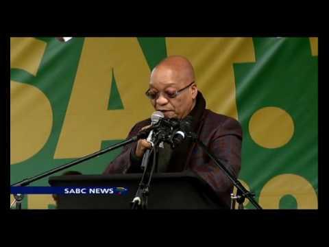 President Zuma addresses ANC supporters in Botshabelo