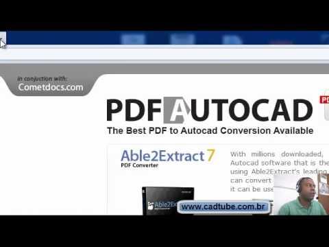Como converter arquivos .PDF em .DWG