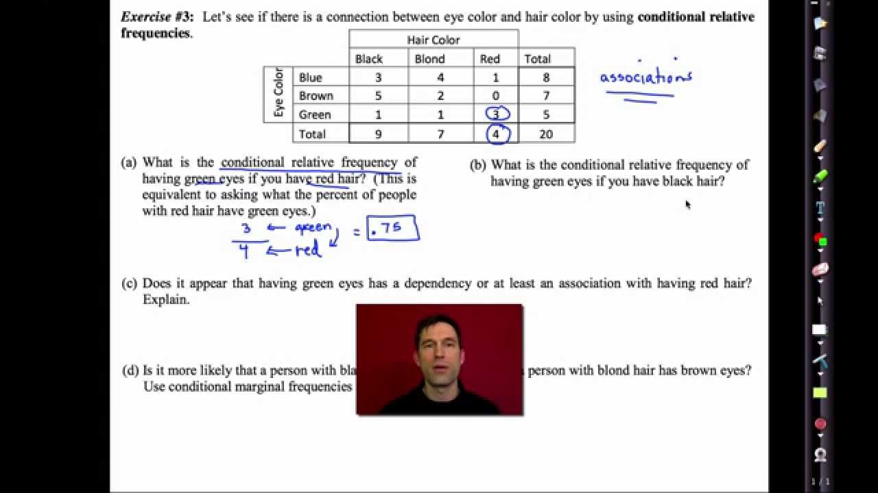 Common Core Algebra I Unit  10 Lesson  5 Two Way Frequency