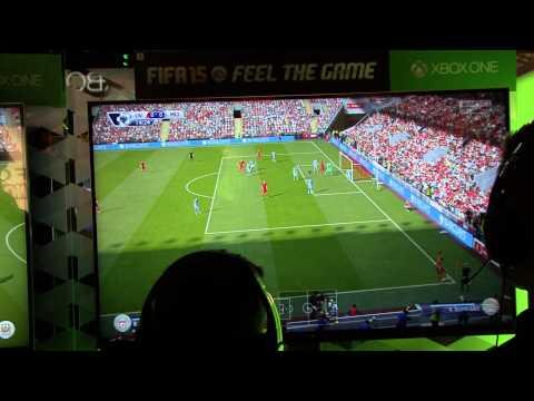 FIFA 15 GamesCom #1 Gameplay - Liverpool vs Manchester City - PS4/XboxOne/PC