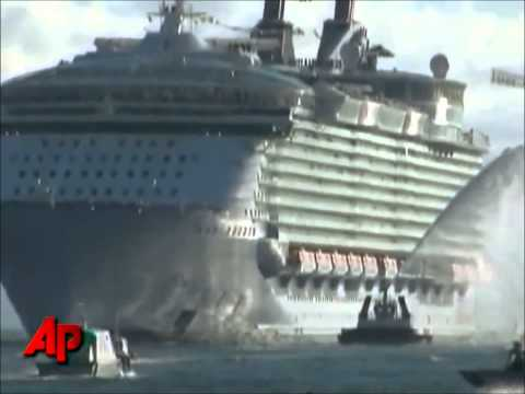 Old News: AP Footage WORLD'S LARGEST CRUISE SHIP Oasis of the Sea Royal Caribbean