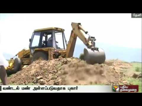 Illegal sand mining alleged in Vaigai river in Theni