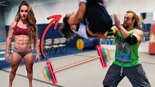 CAN POWERLIFTER LEARN BACKFLIP, 1 SESSION? Stefi Cohen
