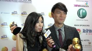 20121102 XinMsn 新加坡《第12屆全球華語歌曲排行榜 》楊宗緯.曲婉婷後台專訪