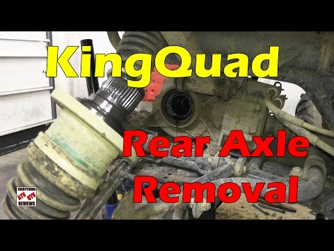 How To Remove Rear Axle - KingQuad AXi ATV Tech Tip 450 500 700 750