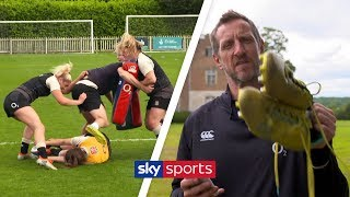 Will Greenwood gets put through gruelling training with England Red Roses! 🏉