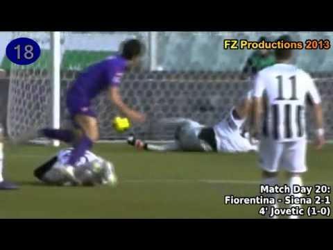 Stevan Jovetic - 35 goals in Serie A (Fiorentina 2008-2013)