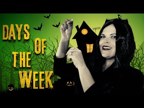 Days Of The Week  Addams Family (Parody) Fun songs for big kids, preschoolers and toddlers