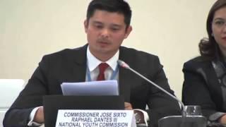 Climate Vulnerable Forum (Speech by Comm. Dingdong Dantes) 12/1/2015