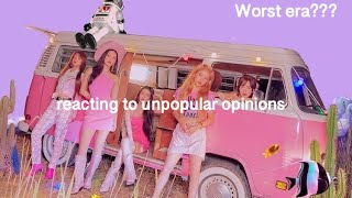 reacting to unpopular kpop opinions