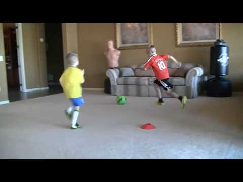 6-7 football/soccer kid with skills of Messi/Ronaldo/Neymar trying to be next Iniesta pt. 2