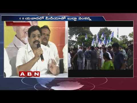 TDP MLC Buddha Venkanna Speaks to Media at Vijayawada | Slams Modi, KCR | ABN Telugu