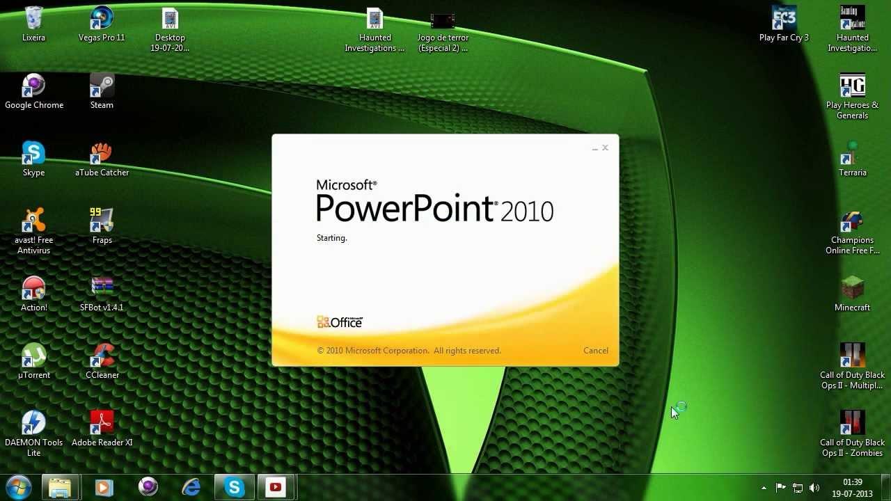 como baixar e instalar o microsoft powerpoint 2010 hd