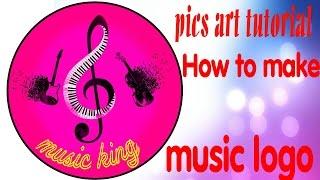 Pics art tutorial How to make music logo