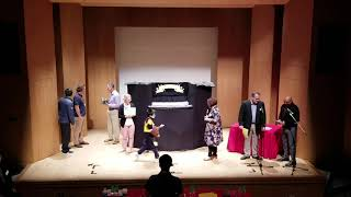 NPGPS accepting winning trophy 2019 Puppetry Competition for Primary Schools