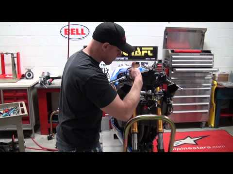 How to remove the front forks on a motorcycle from SportbikeTrackGear.com