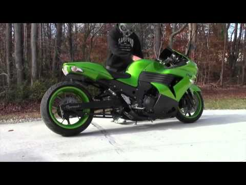 2008-2011 Kawasaki ZX14  Voodoo Exhaust (Motorcycle Video)