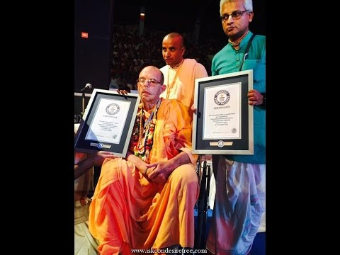 News - Making a New Guinness World Record at ISKCON's golden jubilee event in Kolkata India