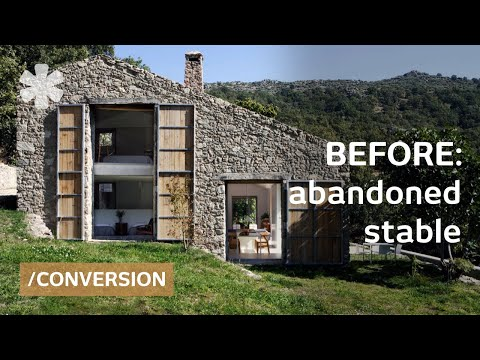 Abandoned stable becomes off-grid, luxurious family dream home