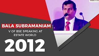 Bala Subramaniam V of BSE speaking at
