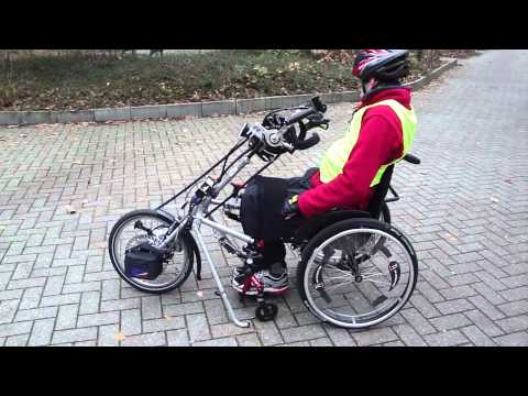 tetraplegia C6-7 handcycle/handbike stricker dock with wheelchair