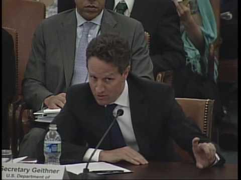 Congressman Sherman (D-CA) Questions Sec. Geithner Re: Derivatives Market