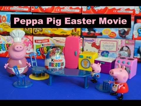 Peppa Pig Kinder Surprise Easter Short Movie [surprise eggs] [Peppa pig]  [Peppa Pig Episode]